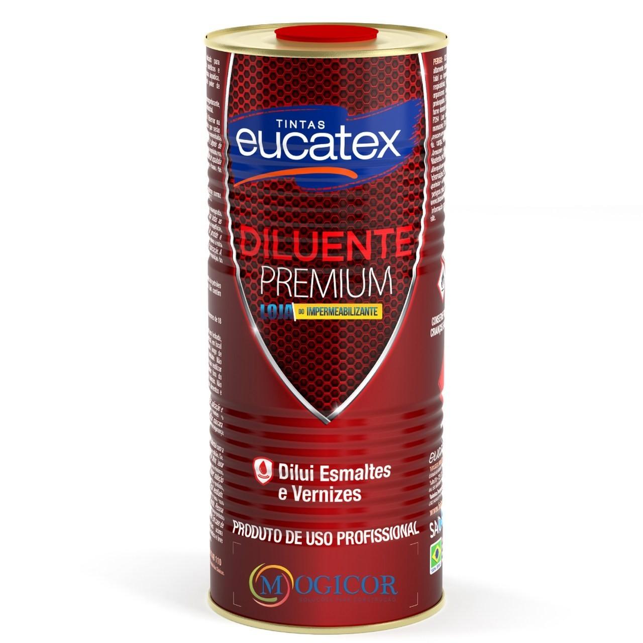 Aguarrás Diluente Premium 0,9l p/ Esmaltes e Vernizes - Eucatex