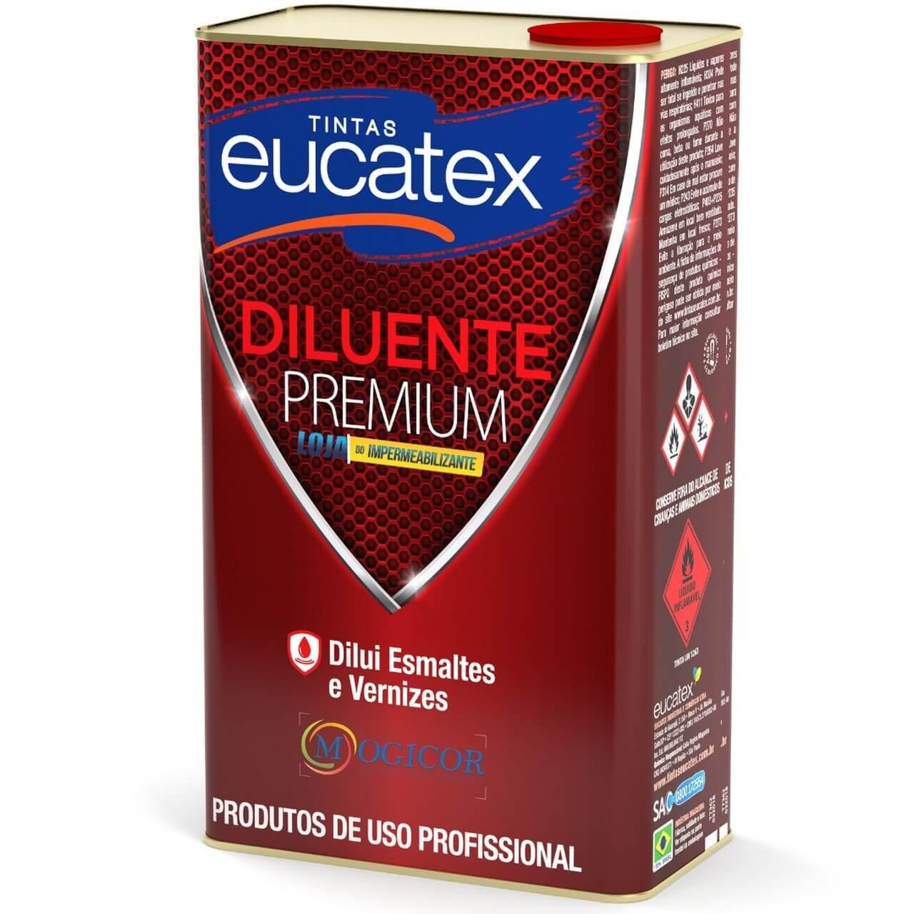 Aguarrás Diluente Premium 5l p/ Esmaltes e Vernizes - Eucatex