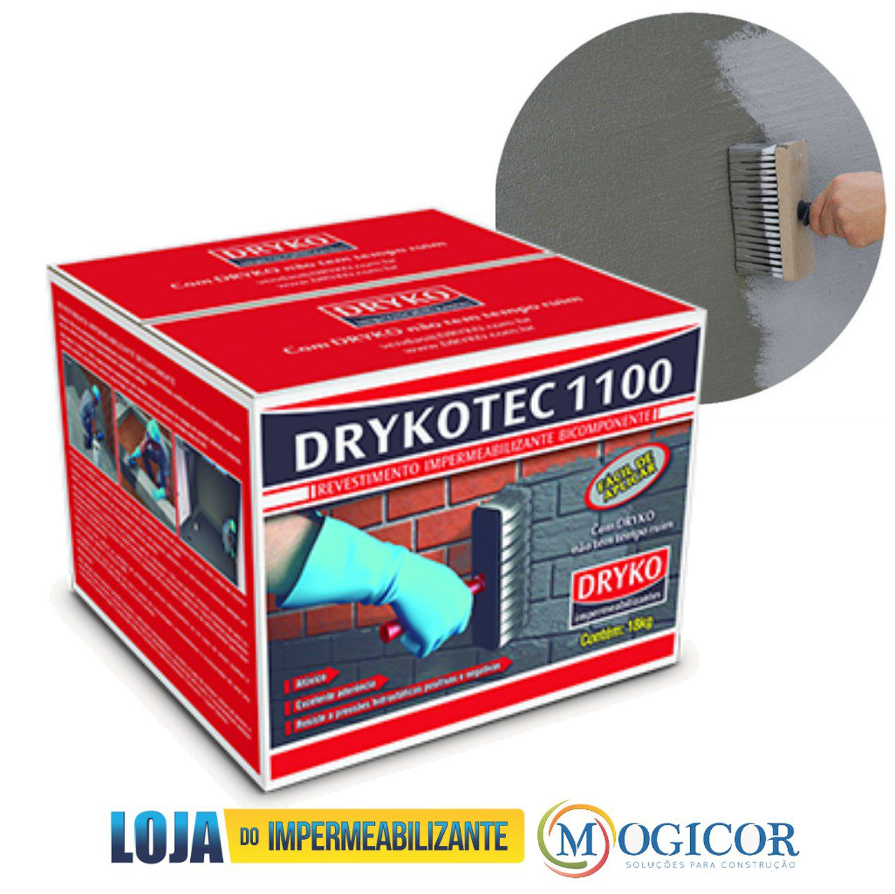 Impermeabilizante Antimofo 18kg Parede Rodapé Sapatas Tanque - Drykotec 1100