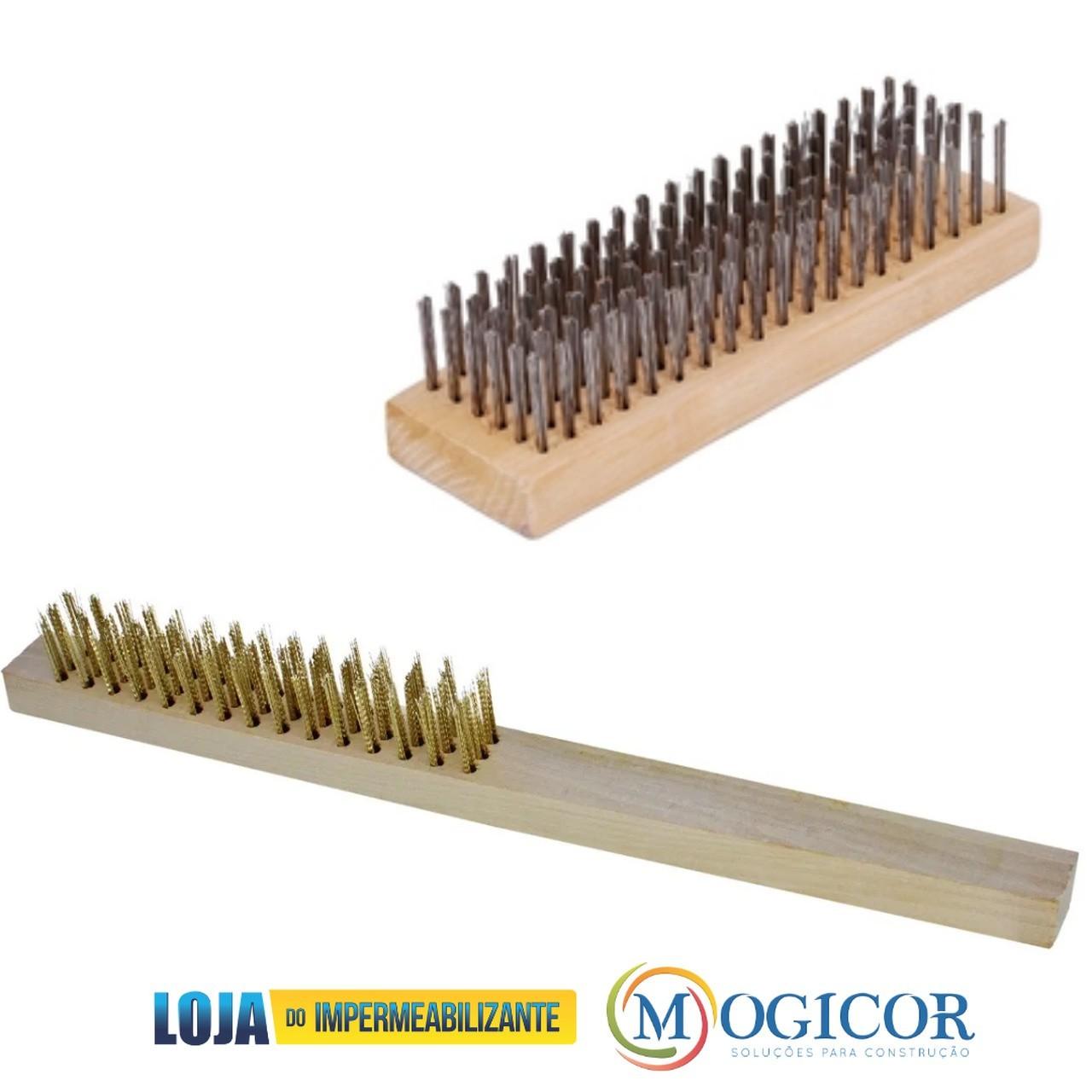 Escovas de Aço Latonada c/ e s/ Cabo p/ Remoção de Resíduos - Compel