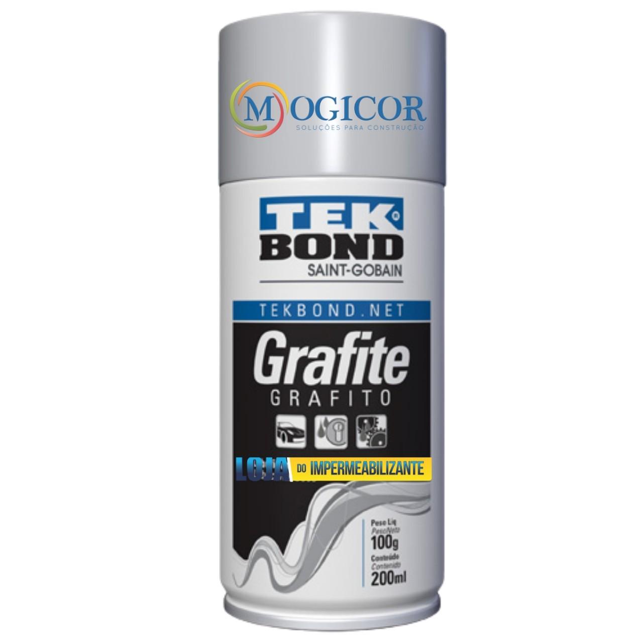 Grafite Spray Lubrificante Seco 100GR/200ML -  Tekbond