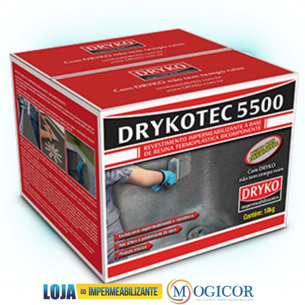 Drykotec 5500 Impermeabilizante Antimofo 18kg Piscinas, Tanques e Sapatas