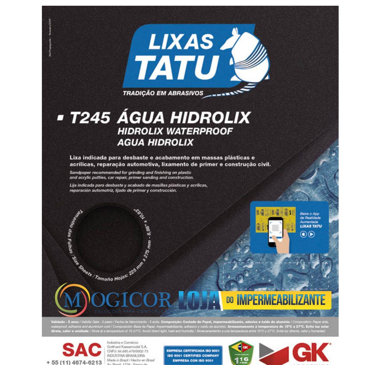 Kit 50un Lixa D'água p/ Resinas, Gessos, Massas Acrílicas - Tatu