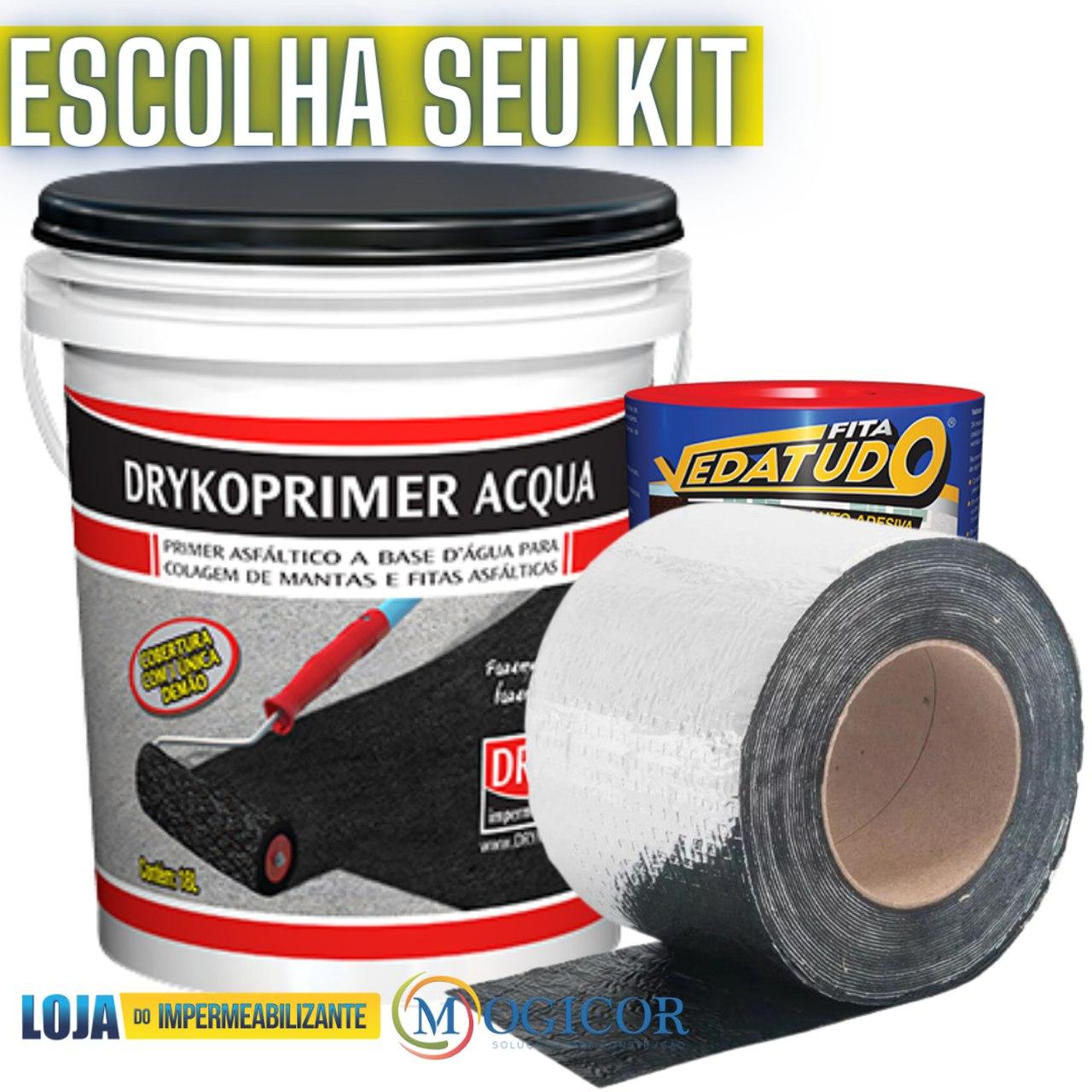Kit Primer + 2 Mantas Asfálticas 20cm X 10m