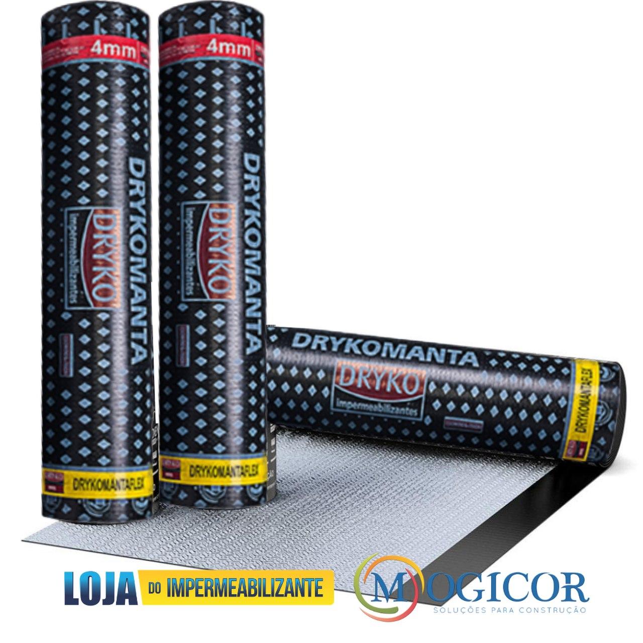 Manta Asfáltica Impermeabilizante 4mm x 10m p/ Lajes, Terraços, Banheiros, Calhas DRYKOMANTA FLEX