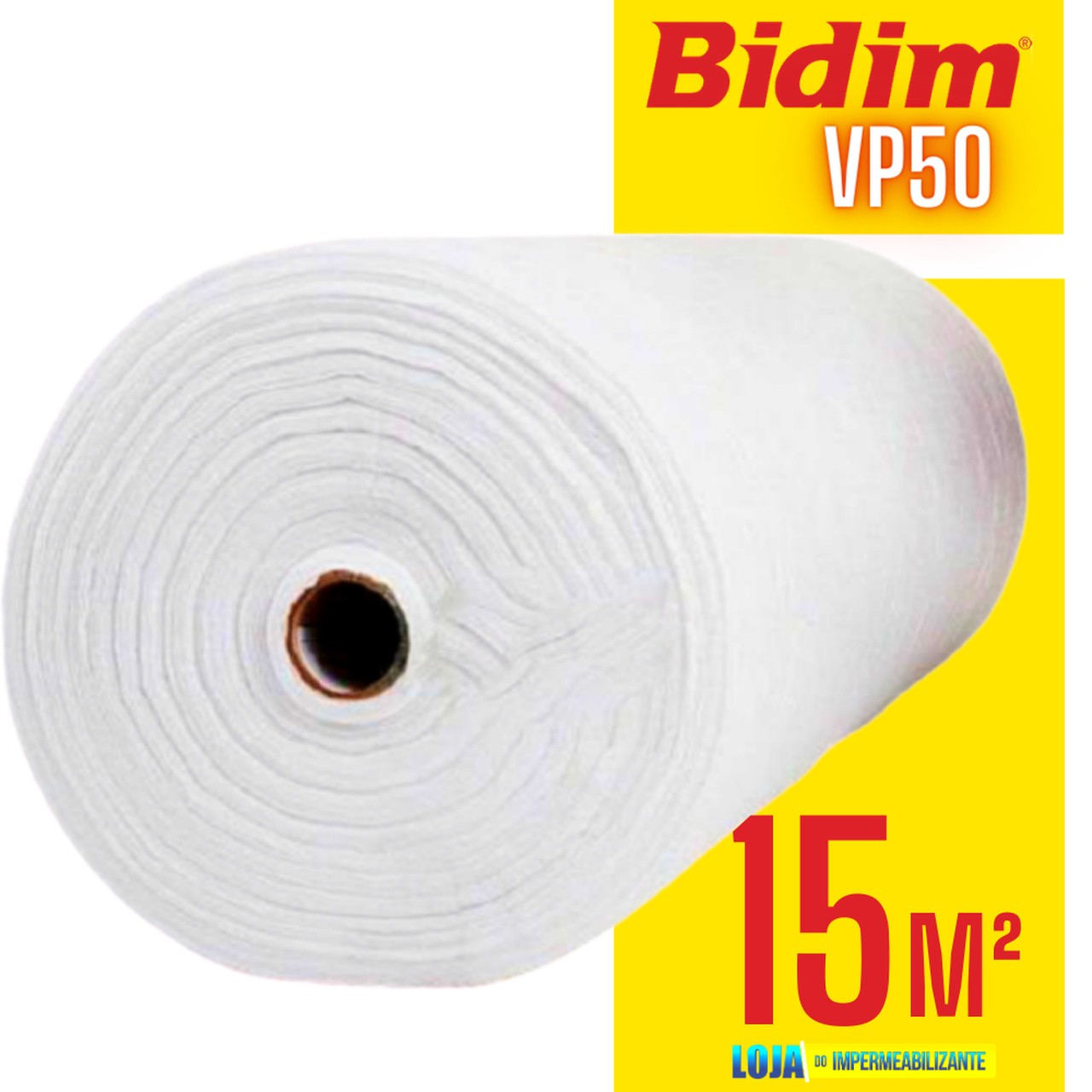 15m2 Manta Bidim Vp50 Impermeabilizante p/ Telhados Lajes Telhas