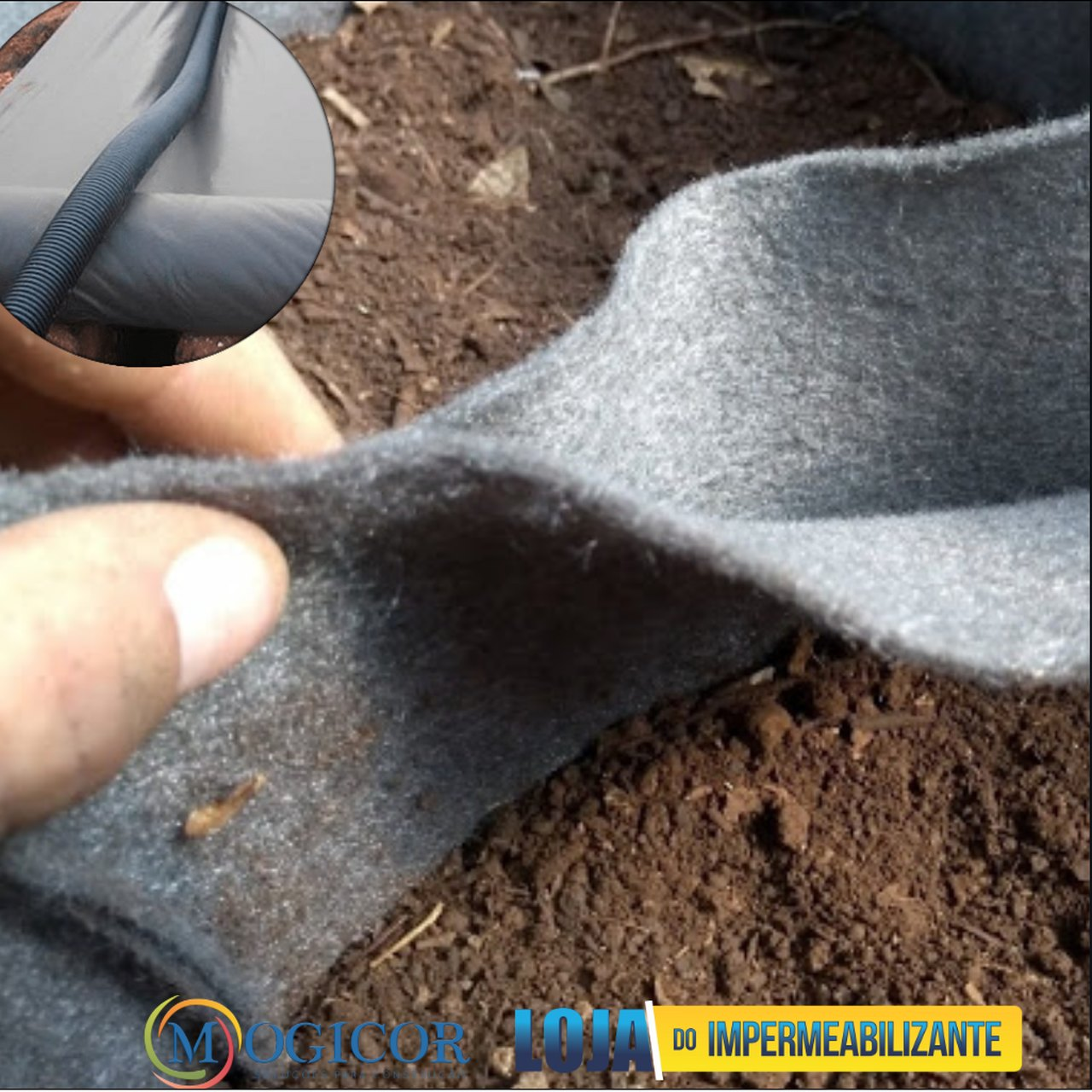 Rolo 10m² Manta Geotêxtil Bidim ®