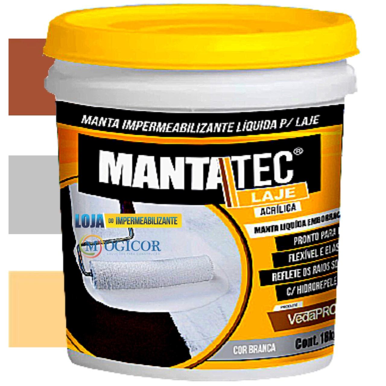 Manta Líquida P/ Lajes Mantatec 18kg - Cores