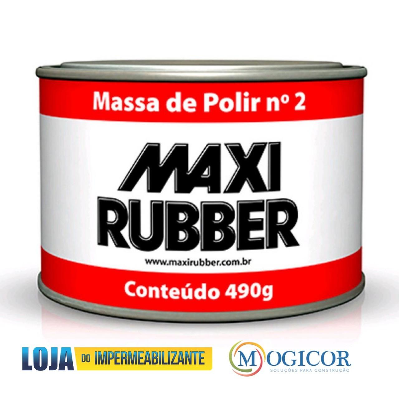 Massa Para Polir 490g Automotivos e Repinturas  Nº2 - Maxi Rubber