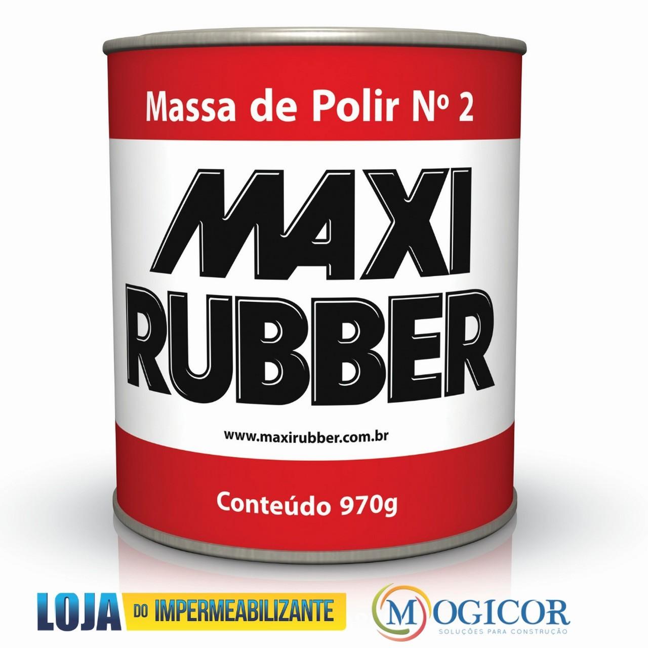 Massa Para Polir 970g Automotivos e Repinturas Nº2 - Maxi Rubber