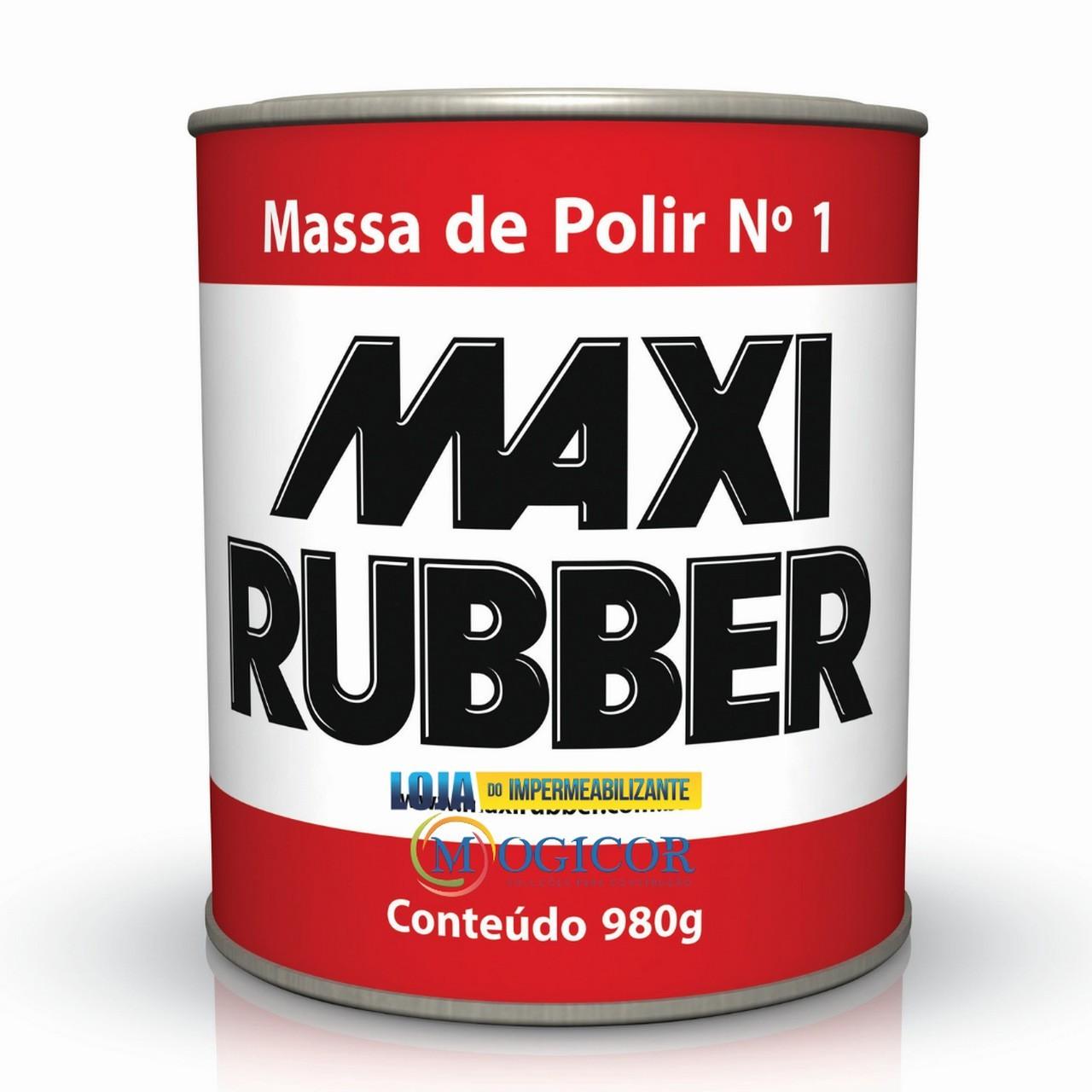 Massa Para Polir 980g Automotivos e Repinturas Nº1 - Maxi Rubber