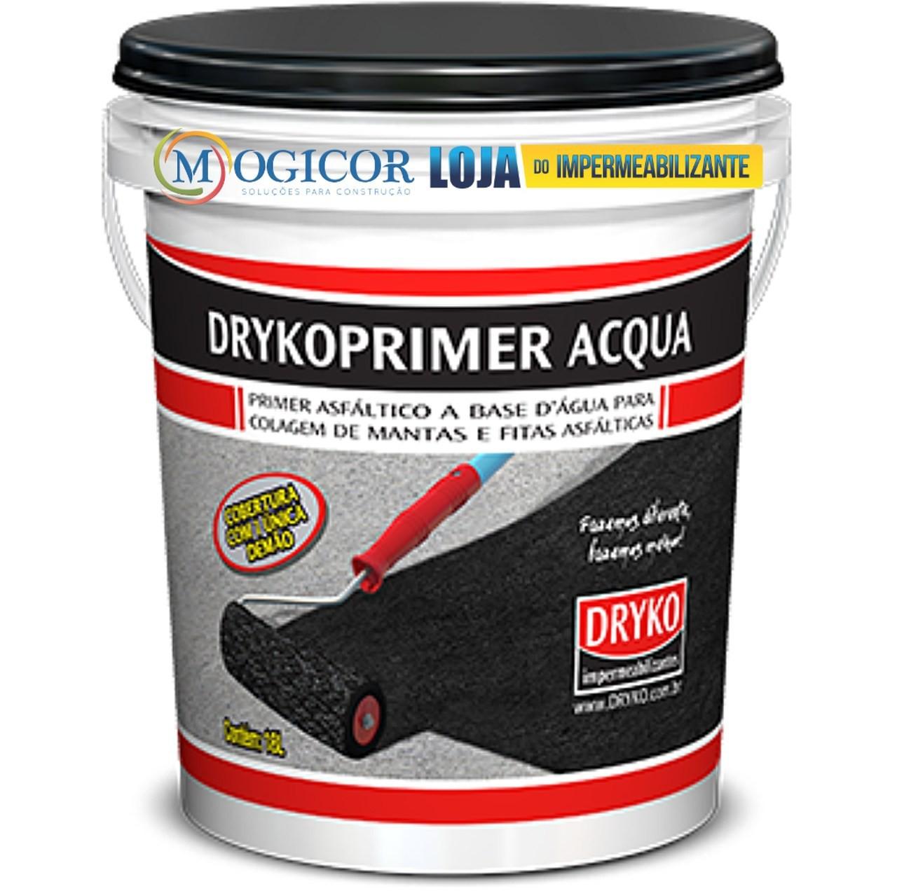 Primer Asfáltico Base Água P/ Mantas & Fitas Aluminizadas - Drykoprimer Acqua 18l