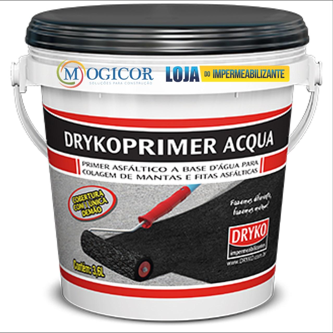 Primer Asfáltico Base Água P/ Mantas & Fitas Aluminizadas - Drykoprimer Acqua 1l