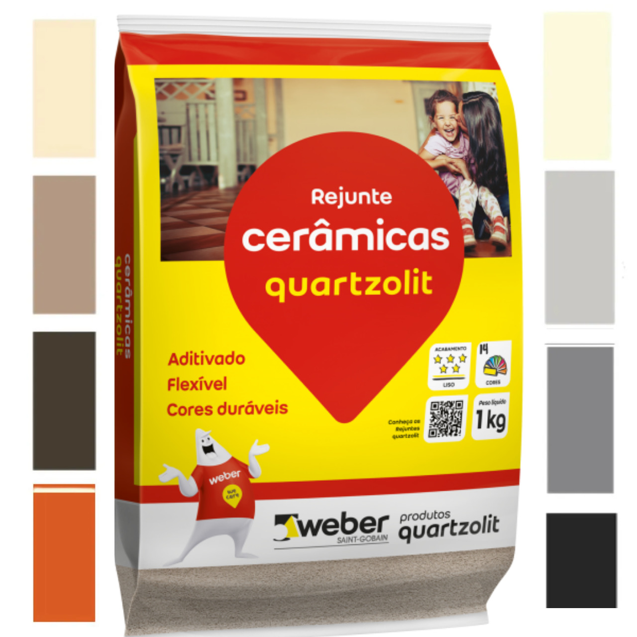 Rejunte Acrílico Impermeável Antimofo 1kg Quartzolit