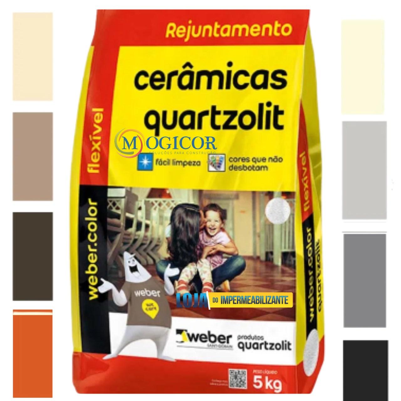 Rejunte Acrílico Impermeável Antimofo 5kg Quartzolit