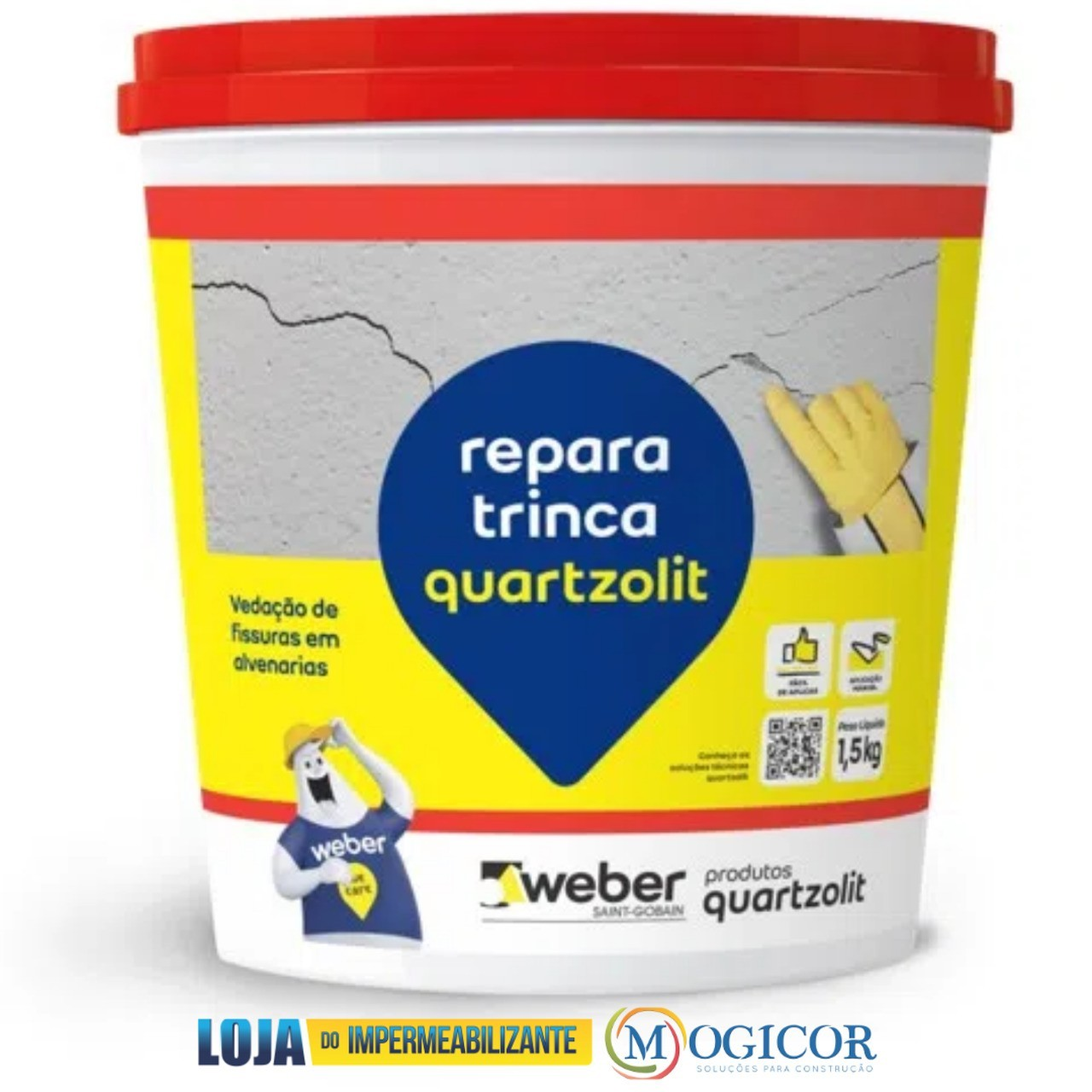 Repara Trinca (Sela Trinca) Frasco 1,5kg - Quartzolit