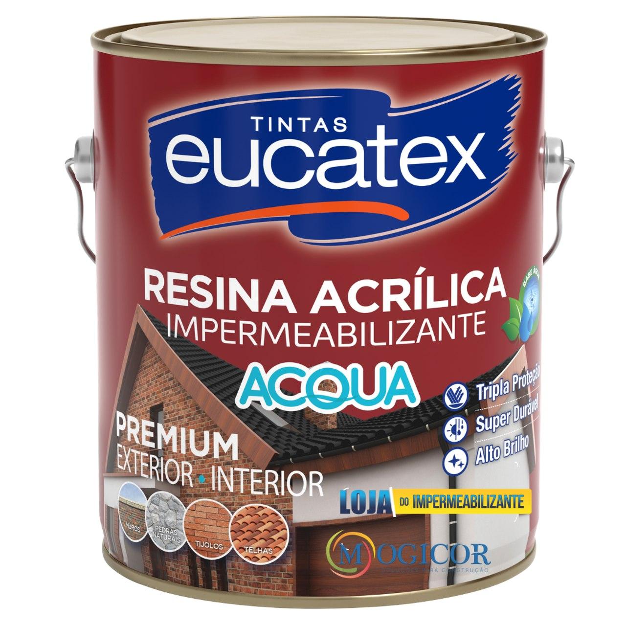 Resina Acrílica Impermeabilizante Premium Base Água 3,6l - Eucatex
