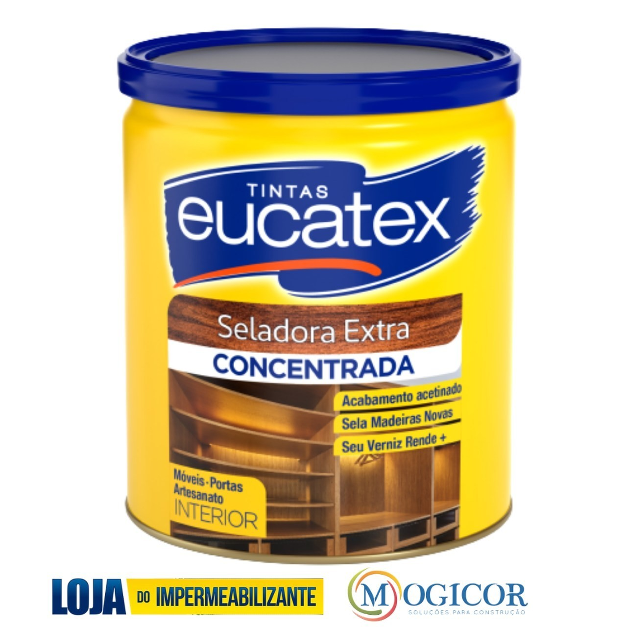 Seladora Fundo P/ Madeira Extra Artesanato 900ml Antifungo - Eucatex