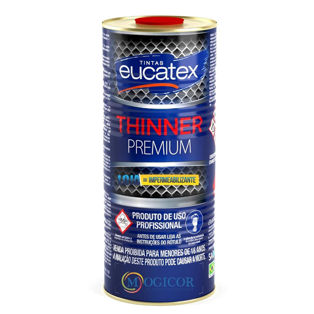 Thinner Premium p/ Limpeza de Tintas E Vernizes 900ml - Eucatex