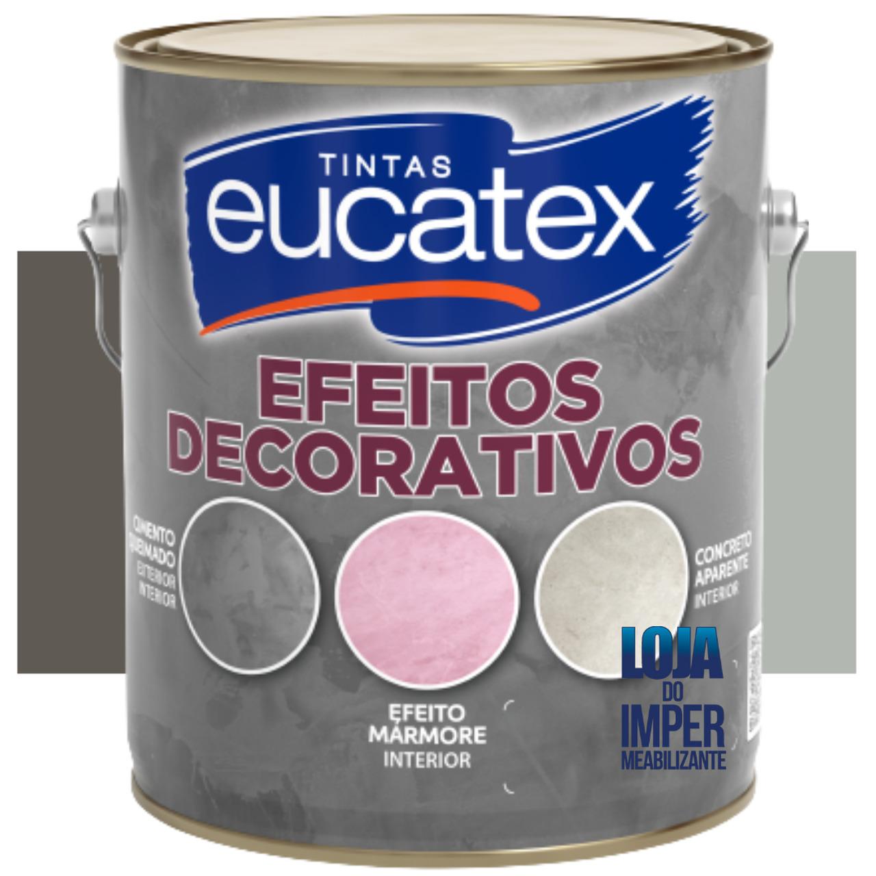 Tinta 5kg Efeito Cimento Queimado Decorativo Mármore - Eucatex