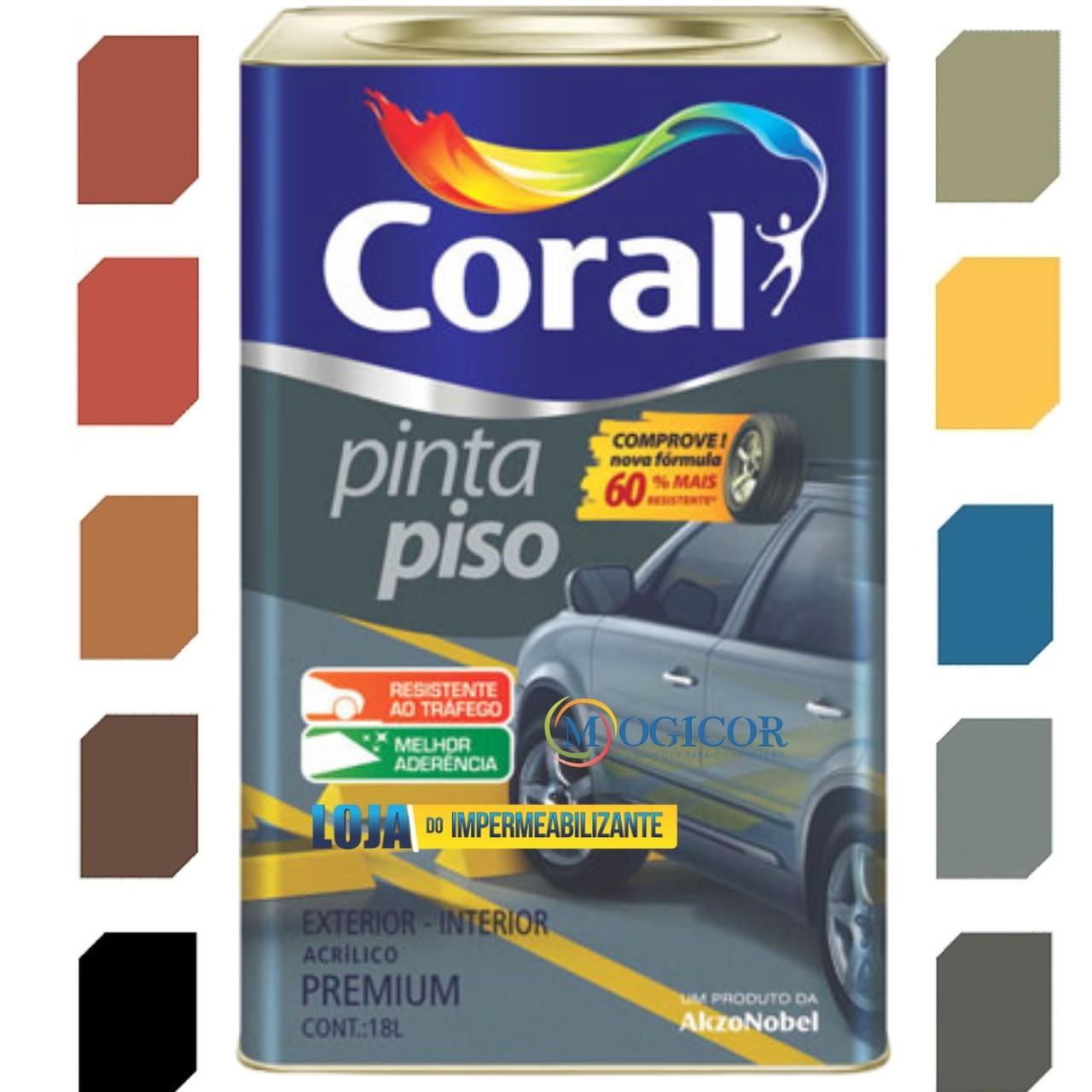 Tinta Acrílica Coral Pinta Piso Premium Interior e Exterior 18L - Cores