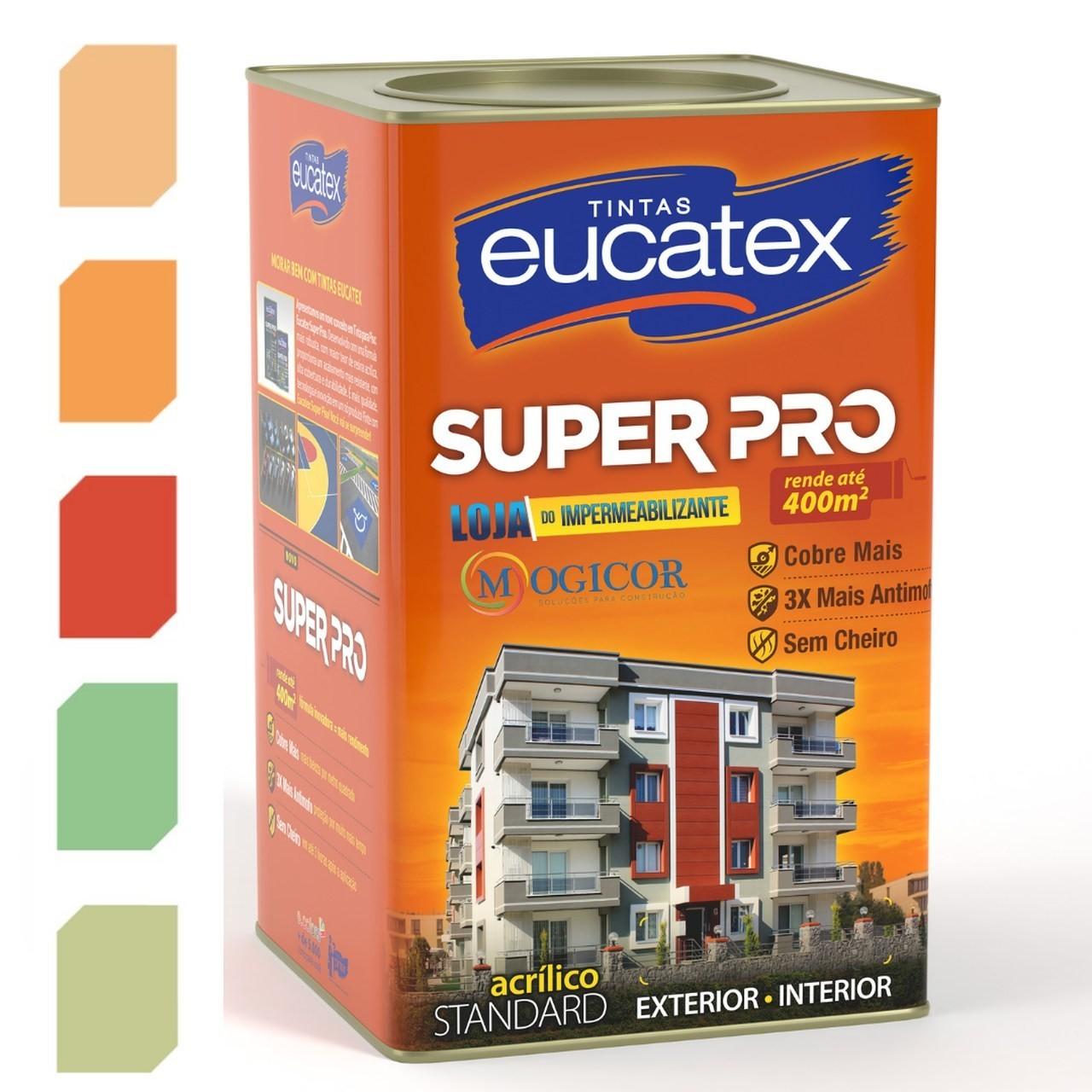 Tinta Acrílica Fosca Antimofo Sem Cheiro Base Água 18l Super Pro  - Eucatex