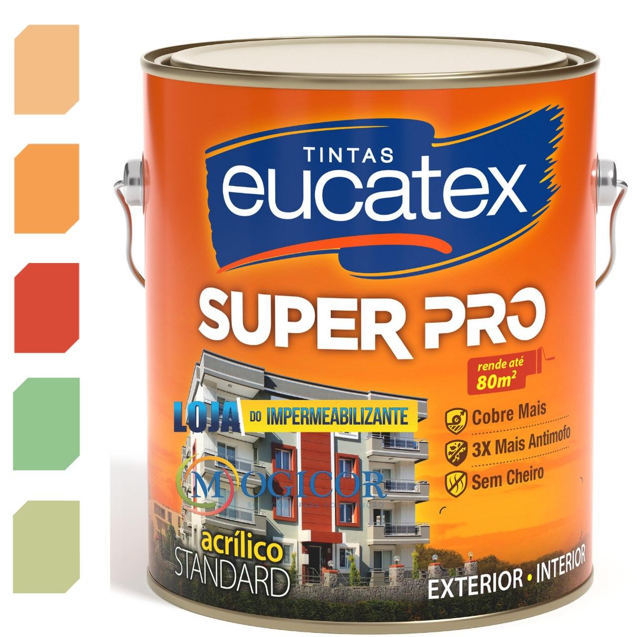 Tinta Acrílica Fosca Antimofo Sem Cheiro Base Água 3,6l Super Pro- Eucatex