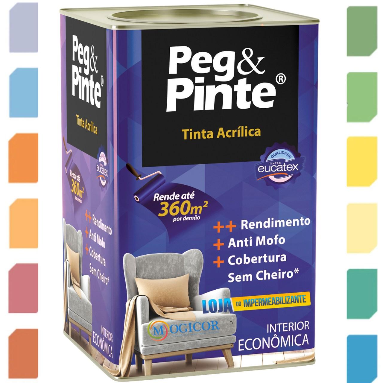 TINTA ACRÍLICA PEG & PINTE 18l EUCATEX