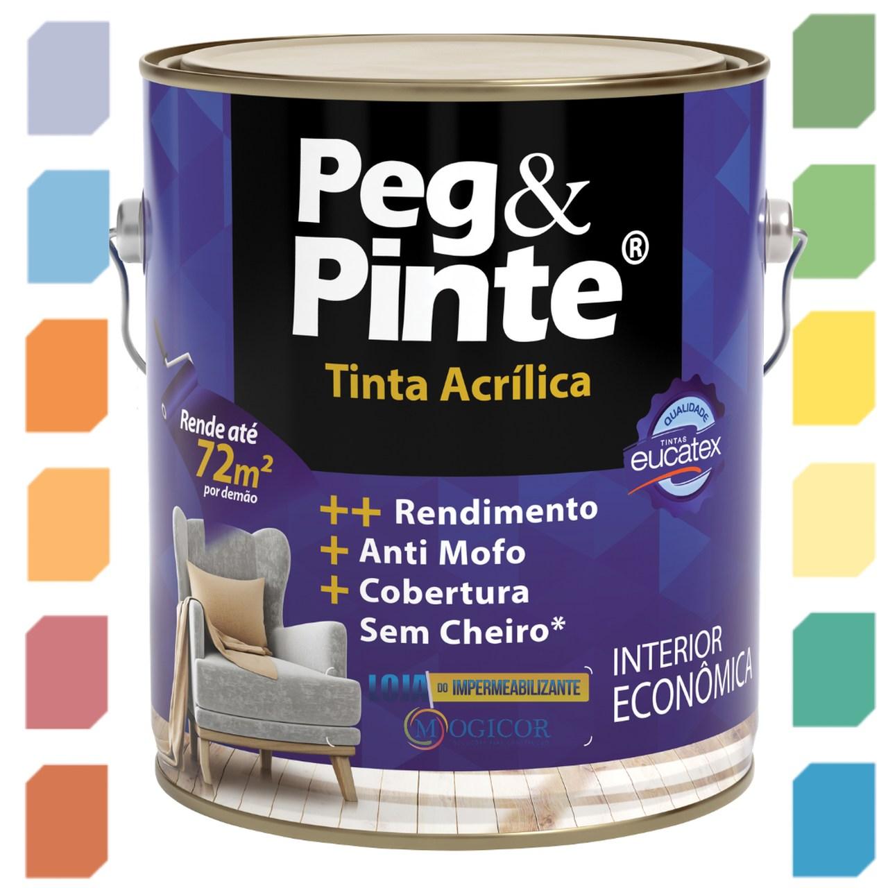 TINTA ACRÍLICA PEG & PINTE 3,6l EUCATEX