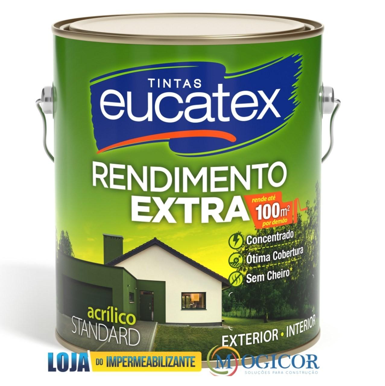 Tinta Acrílica Rendimento Extra P/ Paredes Internas & Externas 3,6L Eucatex