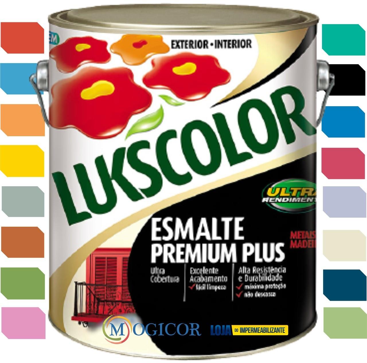 Tinta Esmalte Sintético Brilhante 3,6L Premium Lukscolor