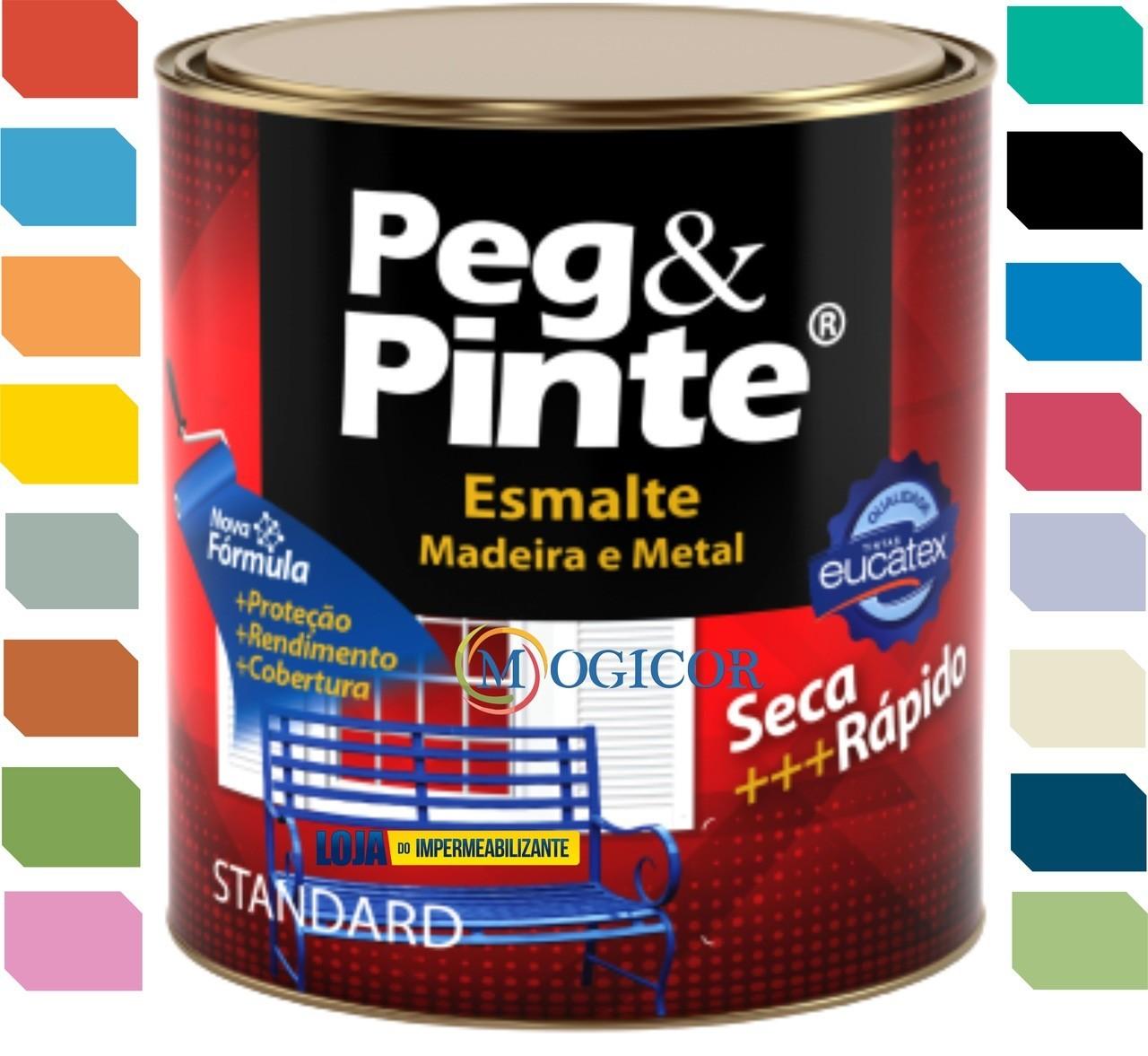 Tinta Esmalte Standard Eucatex 900mL - Secagem Rapida - Cores