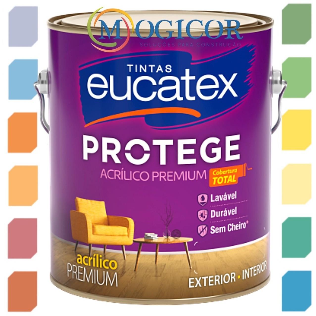 Tinta Lavável 3,6l Fosca, Acetinada e Semi Brilho - Acrílica Premium Eucatex Protege