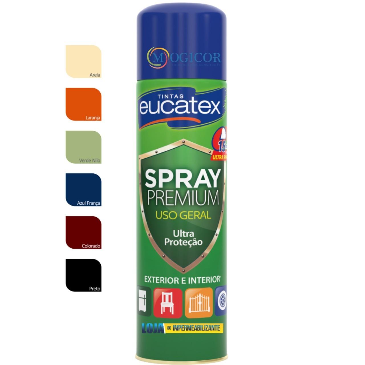 Tinta Spray Premium P/ Pintura De Metais, Madeiras, Vidros e Alumínio 400ml - Eucatex