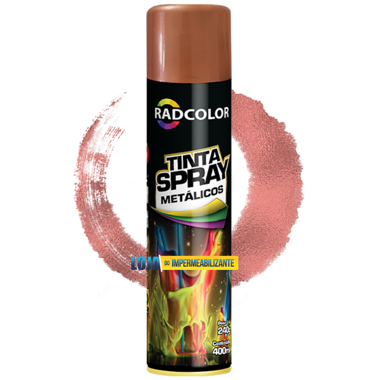 Tinta Spray Rose Gold Esmalte 400ml P/ Pintura De Madeiras, Janelas E Móveis