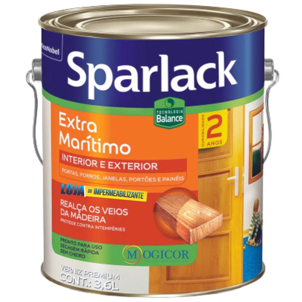Verniz Sparlack Extra Natural Brilhante 3,6l p/ Madeiras
