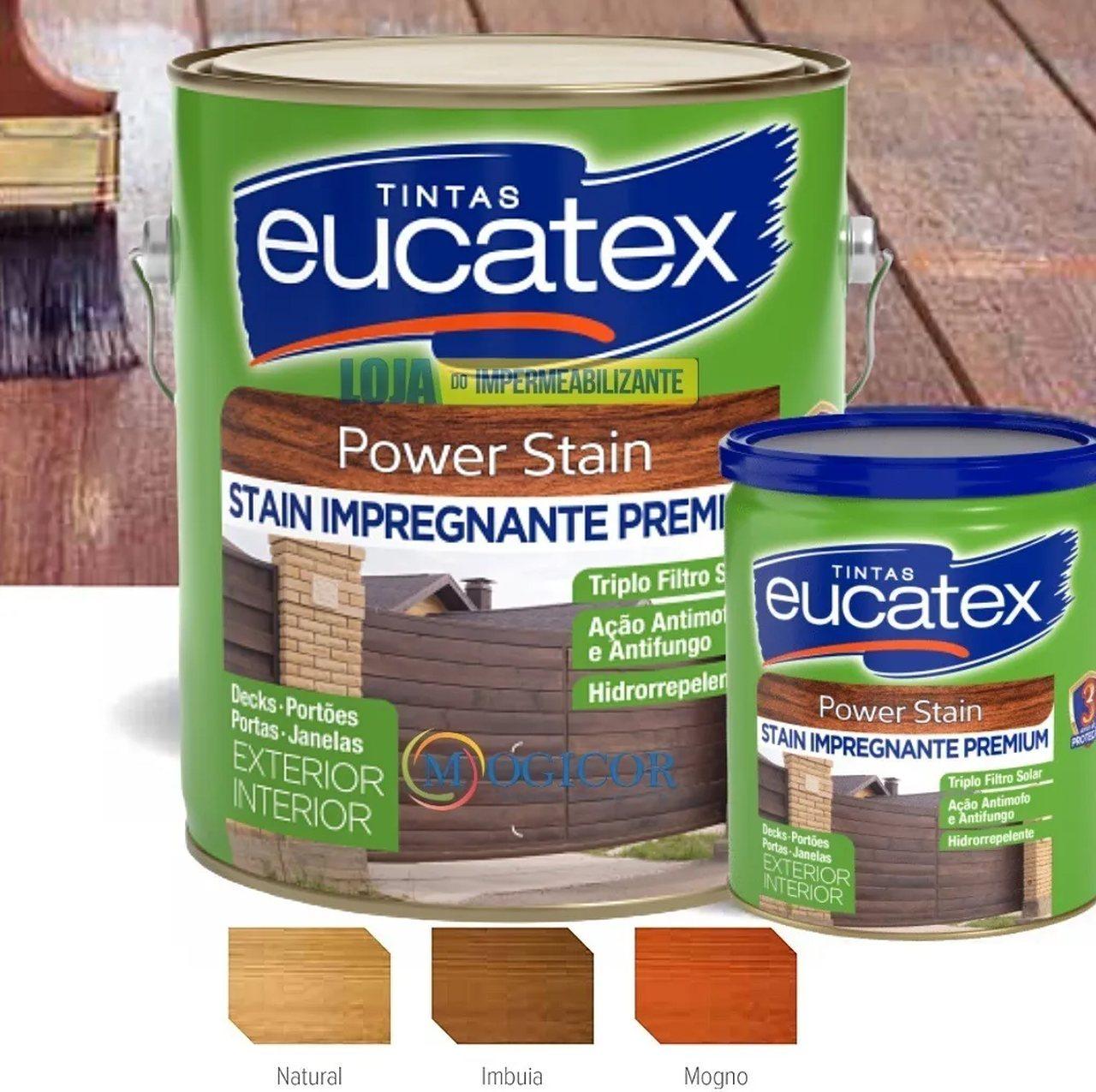 Verniz Stain Premium 3,6l Natural, Mogno & Imbuia. - Eucatex