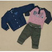 Jaqueta jeans infantil primeiros passos forrada - Alakazoo