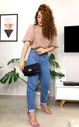 Bolsa feminina transversal pequena em matelassê com alça de corrente