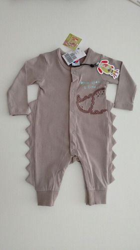 Macacão Infantil Bebê Masculino Menino Dinossauro - Tip Top