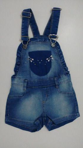 Macacão/jardineira Jeans Com elastano