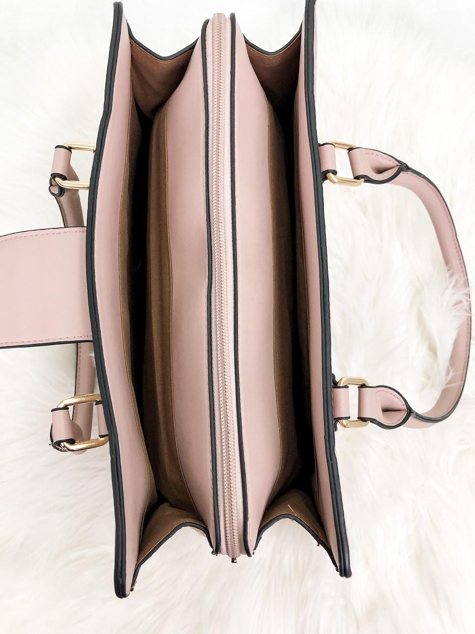 Bolsa Alça De Ombro Santino PU Texturizado Renda - Nude