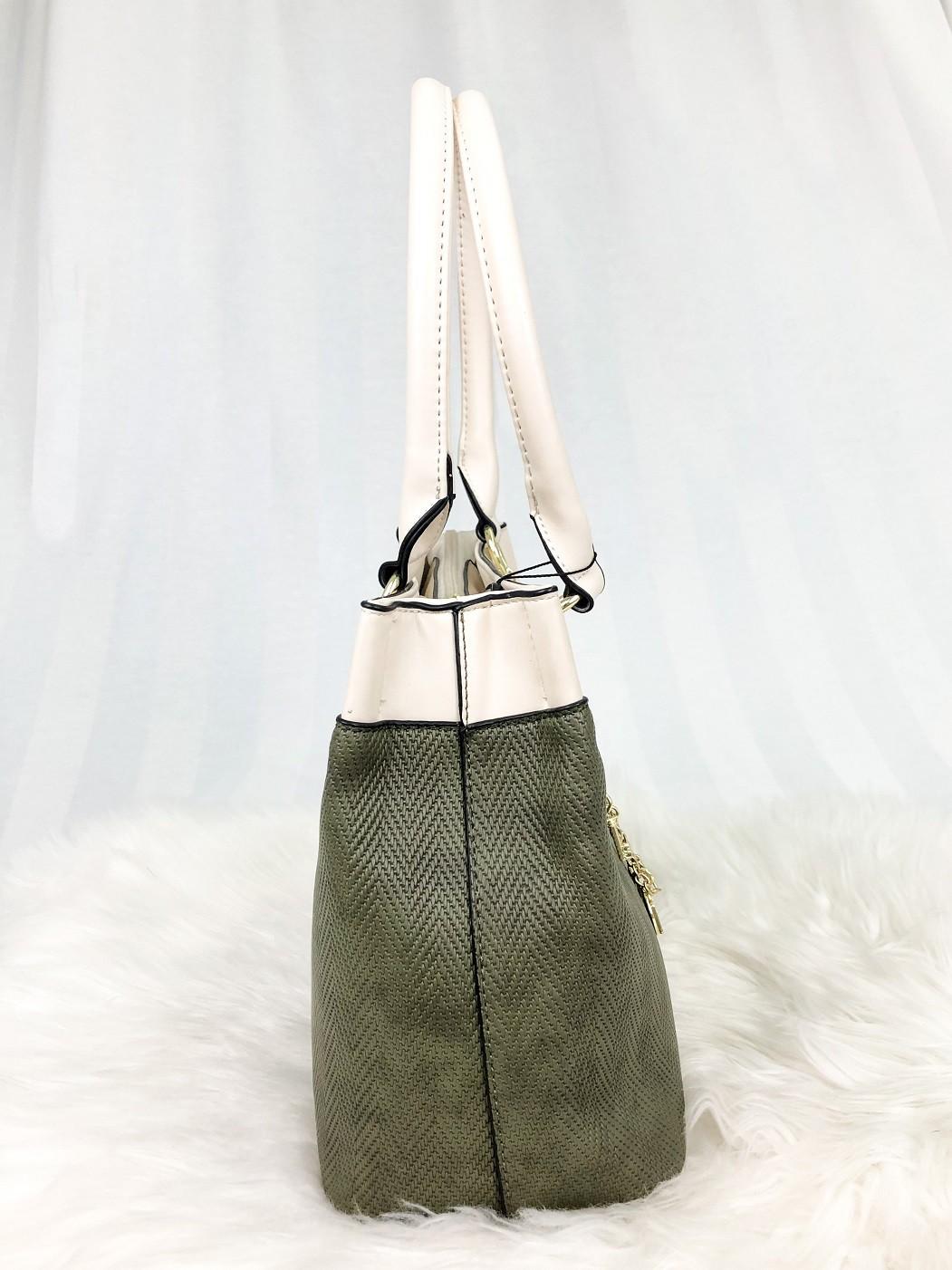 Bolsa Alça De Ombro Santino PU Texturizado - Verde Musgo