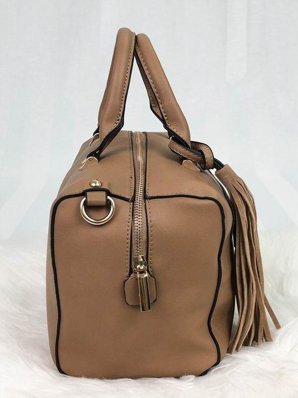 Bolsa Baú Doctor Bag com Franja / Pelota - Bege