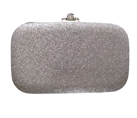 Bolsa clutch de festa com alça de corrente