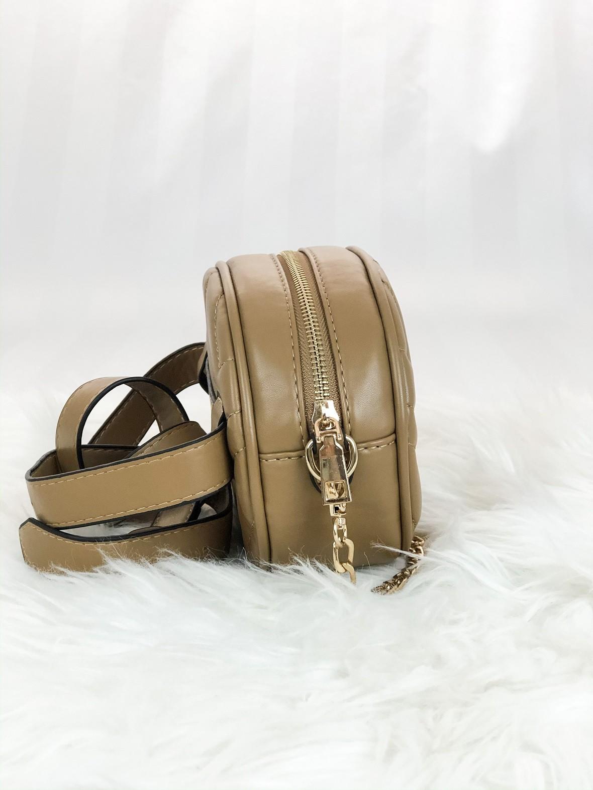 Bolsa feminina duas em uma pochete e bolsa com alça de corrente