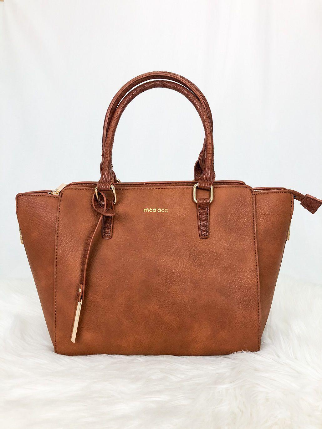 Bolsa Tote Bag Alça De Mão E Transversal Croco