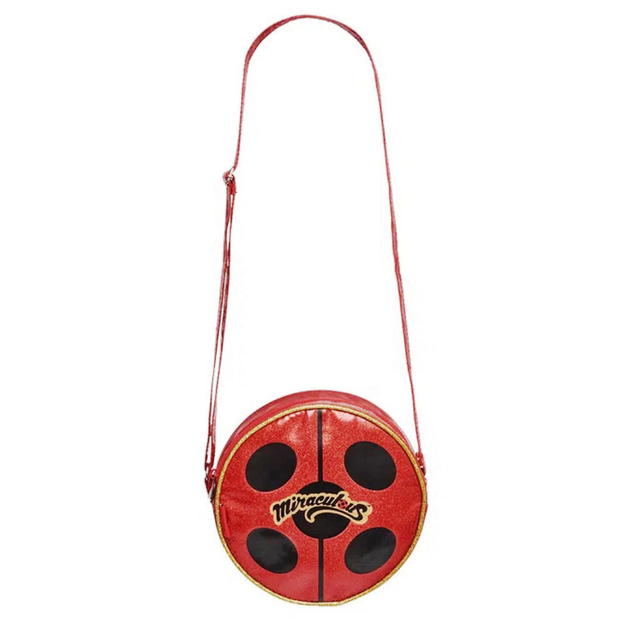 Bolsa Transversal Redonda Miraculous Ladybug