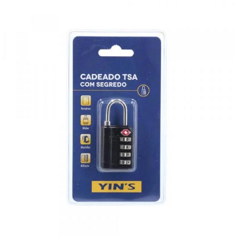 Cadeado 3 Dígitos Para Mala Com Segredo TSA Yin's Brasil