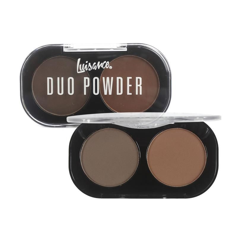 Duo de sombras para sobrancelhas Duo Powder Luisance - cor B